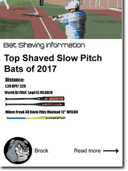 Top Shaved Slow Pitch Bats of 2017